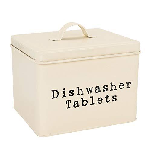 Harbour Housewares Lata pastillas lavavajillas - Crema