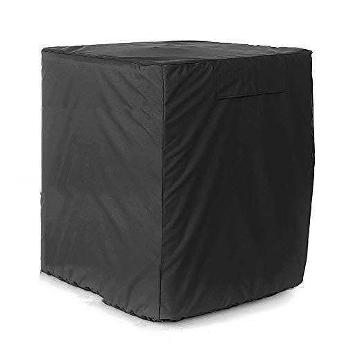 KSS-Cover Couverture De Meubles Meubles Couverture, De Plein Air Tissu Oxford Couverture De Climatiseur Housse De Protection, Imperméable Crème Solaire Anti-UV,Black,76 * 76 * 81Cm