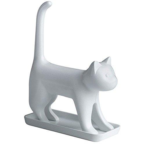 Miauende Bleistiftspitzer Katze in weiß - Kätzchen Anspitzer Spitzer miauen