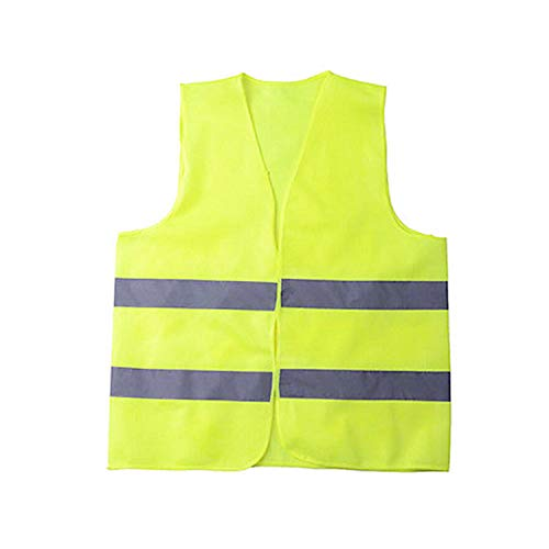Gilet Jaune de Securite,Gilets de Sécurité Réfléchissant Gilet Jaune Visibilité Respirable Lavable pour Gilet Haute Visibilité JauneMoto,Police,Travail Veste Jaune Securite Homme Femme Taille Standard