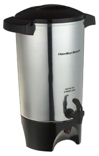 Hamilton Beach C40515 - Cafetera (Independiente, Negro, Acero inoxidable, Aluminio, De café molido, 1 min, Café)