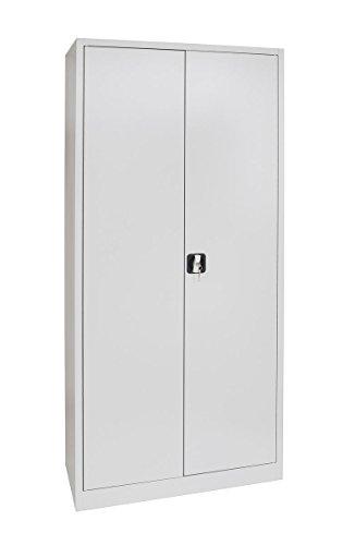 Stahlschrank in Lichtgrau 1950 x 920 x 420 mm - komplett montiert und verschweißt! Schrank Stahl Stahlblech Lagerschrank Aktenschrank inkl. 4 Fachböden - Aktenschränke Montiert Komplett