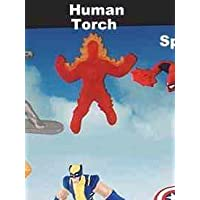 McDonalds Happy Meal Marvel Heroes Human Torch Toy #6 2010 by McDonald's