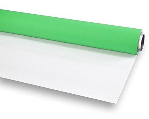 BRESSER Fond de Studio Vinyle en Rouleau 2,72x8m Vert/Blanc