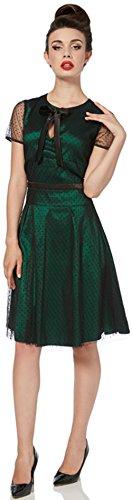 Voodoo Vixen Damen Kleid Emerald Tulle Punkte Spitzenkleid