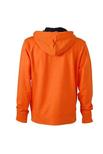 James & Nicholson Herren Urban Sweat Sweatshirt Orange (Orange/Navy)