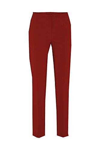 Stehmann - Stretchhose LOLI782 - mit EXTRA-Fashion Armreif - die lange, schmale Hose - WINTERWARM!! - Gerade Pull-On Hose mit Schlitz, Campari