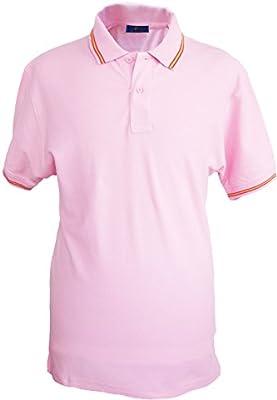Polo con cuello con bandera de España para Hombre, rosa
