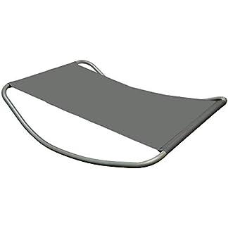 Tumbona con Balancin XXL | mecedora para tomar el sol y relajarse | color gris | 2 plazas ca. 200x130x32 cm | robusto bastidor metálico | moderno con cojin integrado | materiales de calidad | para hogar y jardín
