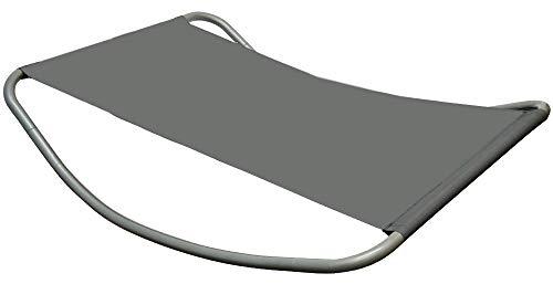 Gartenliege XXL Wippliege Sonnenliege in Grau | Extra groß ca. 200x130x32 cm | robustes...