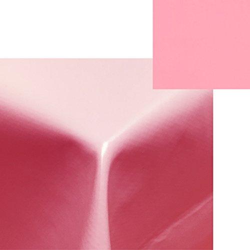 Wachstischdecke Wachstuchtischdecke von JEMIDI Tischdecke Wachstuch Tischdecken Decke Tisch Wachs Wachsdecke Pink 140cm x 220cm