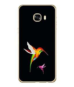 PrintVisa Designer Back Case Cover for Samsung Galaxy C7 SM-C7000 (Wildlife Bird Watching)