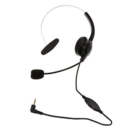 H HILABEE 1x 2.5mm Telefon Headsets Für Festnetz Telefone Noise Cancelling Schwarz