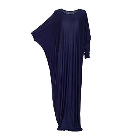 Damen Maxi-Kleid Islamisch zurückhaltend Unifarben Abaya Kaftan Jilbab Jersey langes