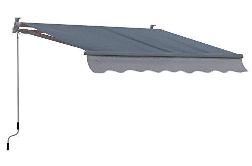 Grasekamp Gelenkarm Markise 200x150cm Grau Sonnensegel Sonnenschutz Jalousien