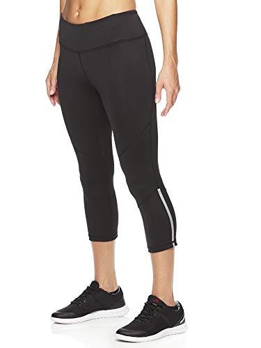 Reebok Women's Printed Capri Leggings With Mid-Rise Waist Performance Compression - Reebok Capri Damen
