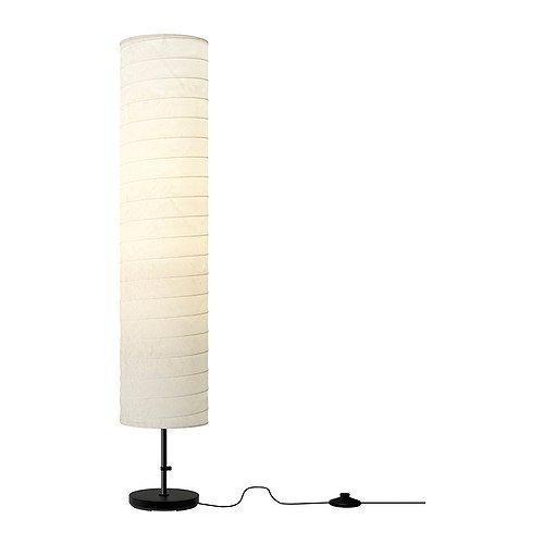 Ikea 2x Echte HOLMO Stehleuchte weiche Glatte mit ständigen Wohnzimmer/Schlafzimmer Licht -