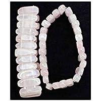 Stäbchen- Armband Edelstein 2cm leicht spitz zulaufend wechselnd doppelt befestigt - Rosenquarz preisvergleich bei billige-tabletten.eu