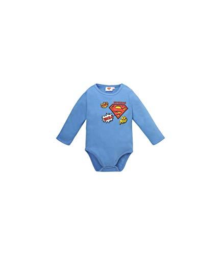 Superman Baby-Jungen 2538 Body, Blau Bleu, 12-18 (Herstellergröße: 18 Monate)