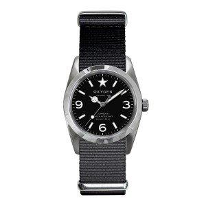 Oxygen EX-S-WAS-34-BL - Reloj para mujeres, correa de tela color negro