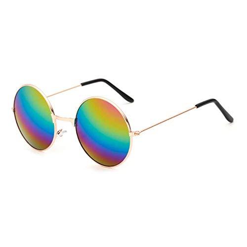 BAIF Sonnenbrille Runde Metallrahmen Sonnenbrille Männer Frauen Prince Mirror Circle Runde Sonnenbrille