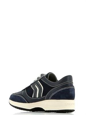 Geox , Chaussures de ville à lacets pour fille Navy/White