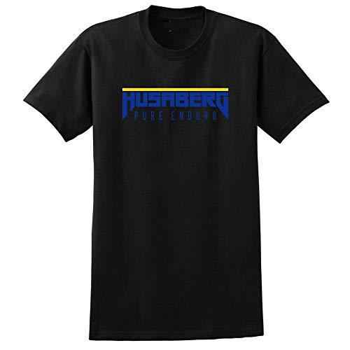 Husaberg Pure Enduro T-Shirt Men\'s Fashion Short Sleeves Cotton Tops Clothing