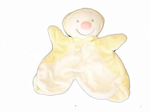 Doudou Plat LUTIN Papillon blanc jaune - KIABI Avda Q7861