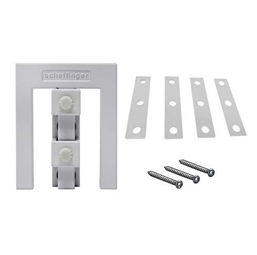 Scheffinger EM3-Zusatzhülse für die kombinierte Sicherung doppelflügeliger Fenster (Weiß)