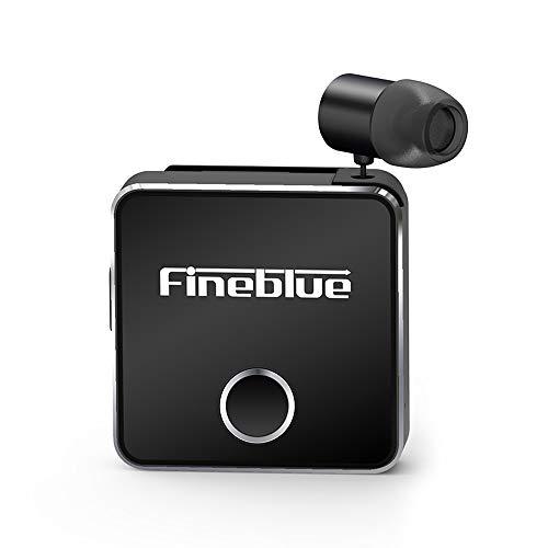 Docooler fineblue f1 bluetooth 5.0 clip-on cuffie con microfono auricolari senza fili retrattile cuffie avviso vibrazione vivavoce per smartphone