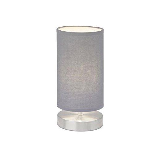 Clarie - Lampada da tavolo con paralume in tessuto, 1x E14, max...