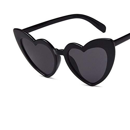 XIELH Sonnenbrillen Mode herzförmige graue Männer Frauen Sonnenbrillen Radfahren Angeln Skifahren Fahren Golf UV-Schutz Sonnenbrillen