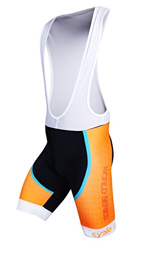 CULOTE CICLISMO CORTO  TOPE DE GAMA CYCLE WORLD SERIES MOD  ABSOLUTE COLOR NARANJA FLUOR  TALLA 2XL