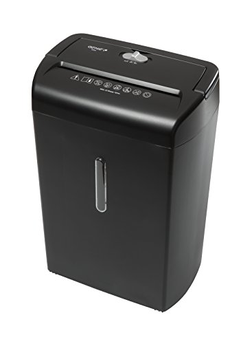 Genie 1200 X Hochsicherheits Aktenvernichter, bis zu 12 Blatt, Partikelschnitt - Shredder (Sicherheitsstufe P-3), inkl. Papierkorb - geeignet für Datenschutz nach neuer Verordnung (DSGVO 2018), schwarz