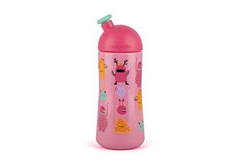 Suavinex 303617 - Botella infantil sport 360 ml, +18 meses, color rosa