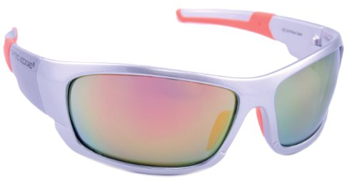 Optik Edge gerahmt Wide Open Sonnenbrille, Silber