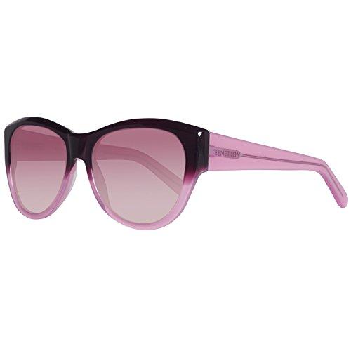 United Colors of Benetton Unisex-Erwachsene BE996S03 Sonnenbrille, Violett (Violet/Pink), 54