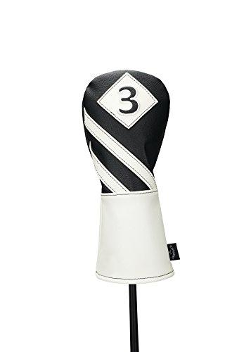 Callaway Golf 2017 Vintage #3 Fairway Holz Schlägerhaube, Herren, Vintage Fairway Headcover, schwarz/weiß, Fairway Wood