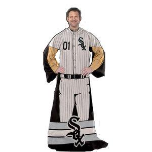 Northwest Chicago White Sox MLB Erwachsene Uniform Comfy Überwurf Decke w/Ärmeln