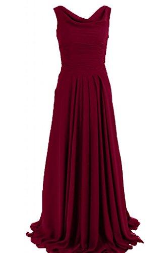Sunvary maniche lunghe guaina abito da sera elegante Chiffon, con scritta Mother of the Bride Borgogna