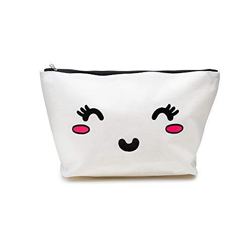 prettique Beauty Bag mit Reißverschluss und Zeichnung als Aufdruck, 32x20cm