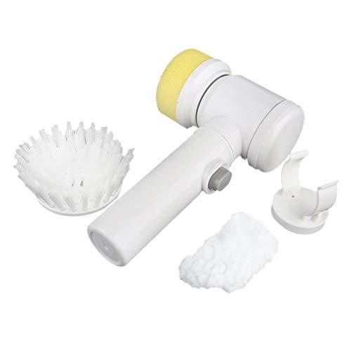 Joyceyayi Multifunktionale 5 In 1 Elektrische Haushaltszauberbrste ABS Nylon Kche Badewanne Reinigung Fensterbrstenreiniger Weiß