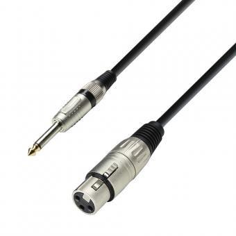 K3 MFP 0100 Mikrofonkabel XLR female auf 6,3 mm Klinke mono 1 m