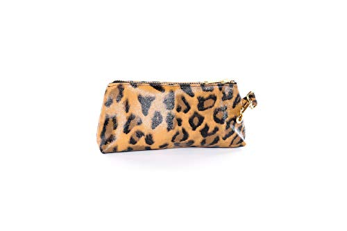 KEYPER Key It Bag Luxe Damen Clutch/Geldbörse/Geldbörse/Geldbörse mit Diebstahlschutz für jede Damenbörse oder Handtasche, Braun (leopard), Large - Luxe Leopard