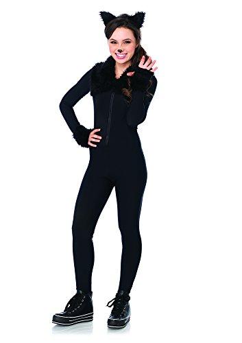 Halloween Kostüm Zubehör Katze (Leg Avenue J49107 - Midnight Kitty Kostüm Set, 2-teilig, Größe S/M,)