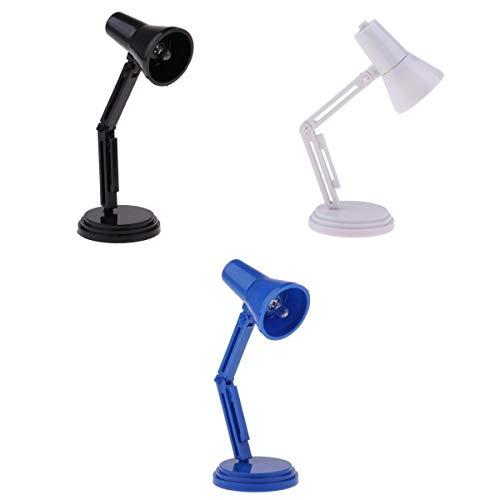 3pcs 1:12 Puppenhaus Beleuchtung Miniatur LED Lampe Schreibtischlampe Nachttischlampe mit EIN / Aus-Schalter -
