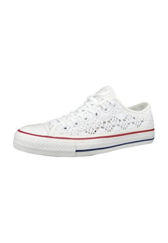 Converse Crochet All Star Ox, Chuck Taylor Spécialité Ox Unisexe - Adulto Optic Blanc Rouge Bleu