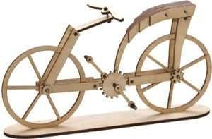 Maquette en bois vélo 'Léonard de Vinci'