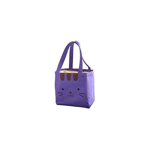 DYTJ-Lunchbox Bento Box Brotdose Wasserdichte Und Auslaufsichere Aluminiumfolien-Lunch-Tasche Mit Großer Kapazität, Isolations-Lunch-Tasche Für Grundschüler, Mehrfachtasche (Farbe: Lila), Lila (Bento-lunch-box Mit Träger)
