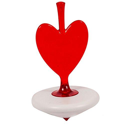 koziol trottola, giocattolo per bambini-a forma di cuore rosso Twister